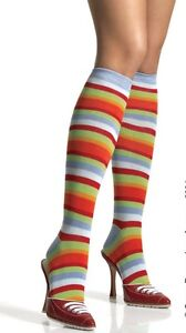 New LEG AVENUE Rainbow Stripe Knee High Stocking Leg Warmer 5576 One Size