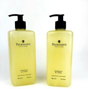 2x 750 ml Pecksniff's Grapefruit & Citron Moisturising Hand Wash Limited