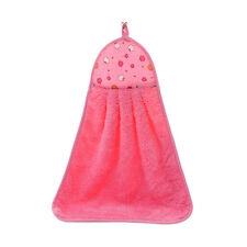 Hand Towel Soft Plush Hanging Wipe Bathing Towel PInk US