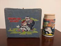 Rare Vintage Aladdin Raggedy Ann And Andy Vinyl Lunchbox w/ Thermos 1977