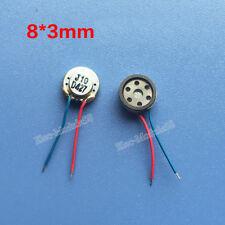 2pcs 8*3mm Micro Speaker 8ohm 1W Bluetooth Speaker Ultra thin Loudspeaker