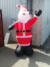 INFLATABLE 9 FT LED LIGHTED AIRBLOWN SANTA CLAUS CHRISTMAS HOME ACCENTS HOLIDAY