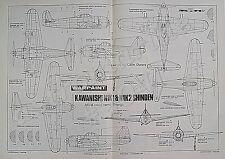 KAWANISHI N1K1 & N1K2 SHINDEN WARPAINT 1.72 Scale Drawings Aviation News 1987