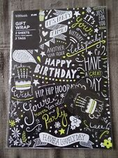 Birthday Wrapping Paper - 2 Sheets - 2 Tags - FIRST CLASS POST