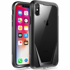 For iPhone X Full-Body Rugged Hybrid Bumper Case Poetic Guardian TPU Cover Black