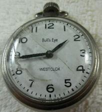 Westclox Bull's Eye  Made in USA Pocket Watch Works Runs 160-4PW29