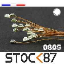 C145# LED CMS pré-câblé 0805 blanc fil émaillé 5 à 20pcs  - white prewired LED