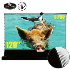 "VIVIDSTORM S PRO 120"" Electric Tension Floor UST ALR Projection Screen Motorized"