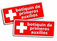 Kit de primeros auxilios ESPAÑOL Etiquetas Decalques de seguridad Emergencia 1ra