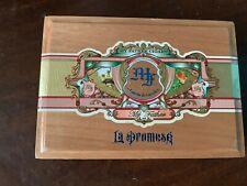 "My Father Cigars La Promesa Genuine Wood Cigar Box L 9 1/4"" X H 6 1/2"" New"
