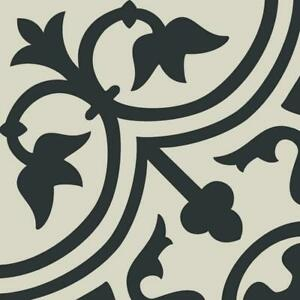 8x8 Deco Black White Arabesque Pattern Spanish Ceramic Mosaic Tile MTO0473