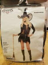 Sexy Wicked Witch Costume Halloween ADULT size MEDIUM Charades