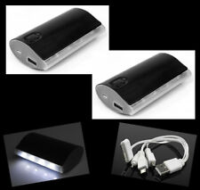 2 5200MAH PORTABLE BATTERY CHARGER USB BLACK NOKIA LUMIA 920 1020 HTC ONE Z10