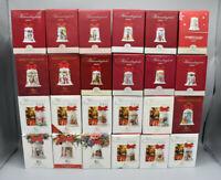 24 Hutschenreuther Weihnachtsglocken von 1995 - 2018 - Porzellan in OVP