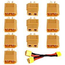 RC Lipo Battery for 10 Pairs  Bullet Connectors Plugs 20PCS Male Female XT60