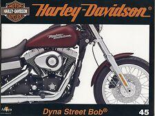 MOTOR CYCLES / UN SIECLE DE HARLEY DAVIDSON / ANNEE 2012 / N° 45 DYNA STREET BOB