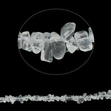 "34"" Strand Clear Quartz 5-8mm Chip Beads"