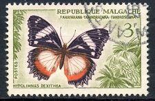 STAMP / TIMBRE DE MADAGASCAR N°341 OBLITERE PAPILLON