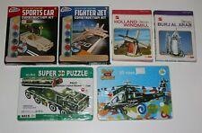 Lot Déstockage 6 Jeux Puzzle 3D Moulin Avion Voiture Hélicoptère Camion