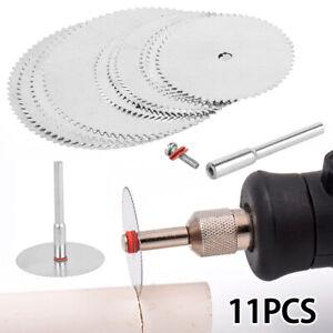 11X Steel Circular Saw Blade Disc Mini Drill Wood Cutting For Dremel Rotary Tool