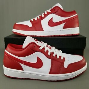 Nike Air Jordan 1 Low Gym Red Shoes Mens Size 8.5 Sneakers Red White 553558-611