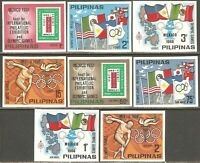 Philippines 1968 ☀ Summer Olympic Mexico 1968 Complete imperforated set ☀ MNH **
