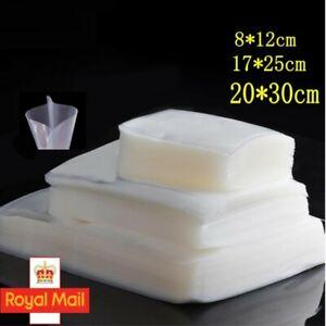 100 Textured Vacuum Food Sealer Bags Embossed Vacuum Pouches Seal Saver Storage