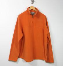 Zegna Sport Italy Polyester Fleece orange half zip men's sweater Medium M