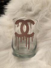 Glam Makeup Brush Holder Jewelry Vase Accessories ROSE GOLD GLITTER