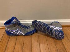 Rare Asics Aggressor 3 wrestling shoes Size Mens 7 White Blue Grey Nike