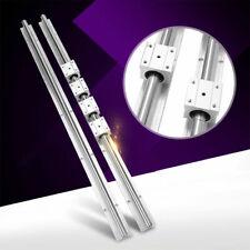 2pcs SBR16-750mm 16mm Linear Slide Guide Shaft Rail+ 4pcs SBR16UU Bearing Block