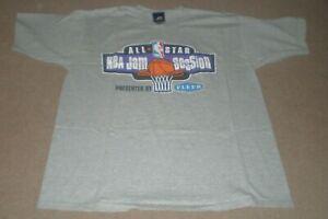NBA All Star 2000 Oakland CA Jam Session Large VINTAGE SHIRT Basketball Fleer