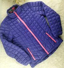 Reebok girls purple packable puffer coat SIZE L (14-16) lightweight no hood