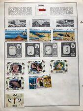 Older Dubai Stamps Lot, Mint & Used, Hinged