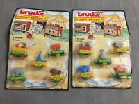 2x Vintage Bruder Mini-Circus / Zirkus-Zug Plastik-Modelle - Moc Ovp W. Germany