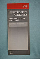Northwest Airlines Timetable - Frequent Flyer Timetable - Sept 6 thru 30, 1989