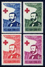 VIETNAM, SOUTH Sc#136-9 1960 Henri Dunant, Red Cross Centenary MNH