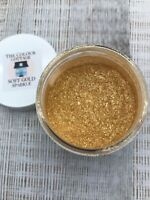 Mica Powder 1/2 oz Jar Soft Gold SPARKLE for Epoxy Resin, Cosmetics, Soap