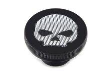 HARLEY DAVIDSON Willie G Skull Fuel Gas Cap FXST FLST Dyna XL Round Black Vtwin