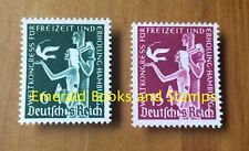 EBS Germany 1936 World Recreation Congress Michel 622-623 MNG