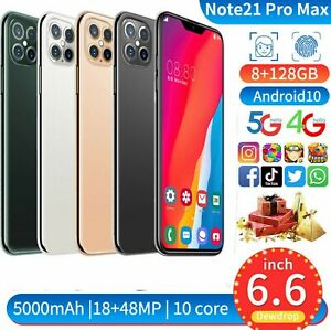 """Note21Pro Max 8GB 128GB Android 10 RAM (FACTORY UNLOCKED) 6.5"""" FHD"""