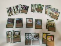 MAGIC THE GATHERING- REVISED 3RD EDITION- GREEN LOT OF 49 - MANY MULTIPLES - MTG