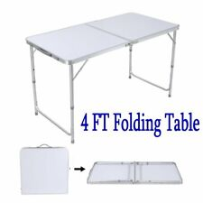 4Ft Aluminium Folding Table Outdoor Portable Picnic Party Desk with Carry Handle