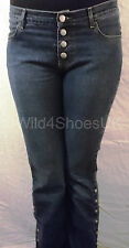 "MISS SIXTY DARK BLUE NICKOLAS DENIM JEANS - UK SIZE 10 - WAIST 28"" LEG 33"""