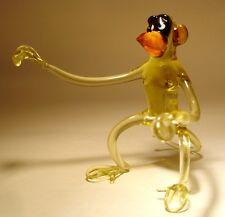 """Blown Glass """"Murano"""" Art Figurine Animal Comic MONKEY"""