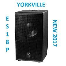 "NEW Yorkville ES15P Powered 15"" Subwoofer Active 1800 Watts Elite Series Speaker"
