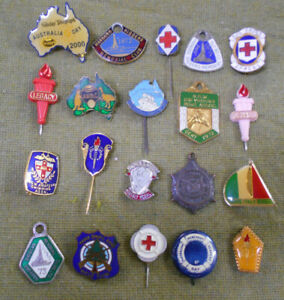 #D500.   #2.  LOT OF TWENTY (20)  BADGES & PINS
