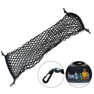 90*30cm Black SUV Car Cargo Net Cord Helmet Storage Mesh Adjustable Luggage Rack
