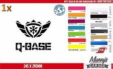 Q BASE 245 x 290mm - Aufkleber, Sticker, Decal, Autocollant Étiquette Hardstyle