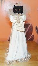 BLACK PERSIAN CAT GUARDIAN ANGEL BY TWO SISTERS & CO. INC. 1993. SO CUTE!